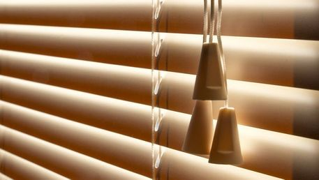 Venetian blinds fitted in a domestic home